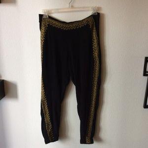 Cleobella Black/Gold Harem Pants